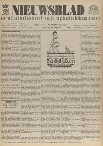 Nieuwsblad het land van Heusden en Altena de Langstraat en de Bommelerwaard 1921-08-31