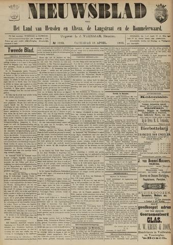 Nieuwsblad het land van Heusden en Altena de Langstraat en de Bommelerwaard 1893-04-15