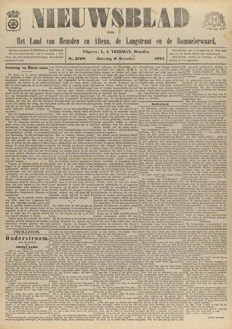 Nieuwsblad het land van Heusden en Altena de Langstraat en de Bommelerwaard 1911-12-09