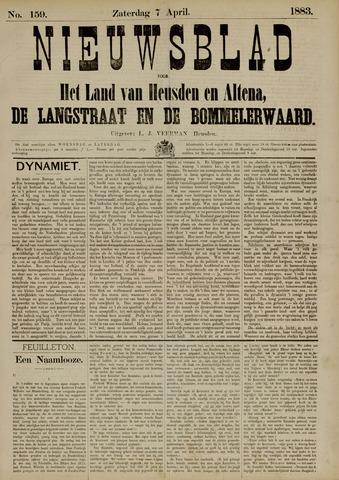 Nieuwsblad het land van Heusden en Altena de Langstraat en de Bommelerwaard 1883-04-07