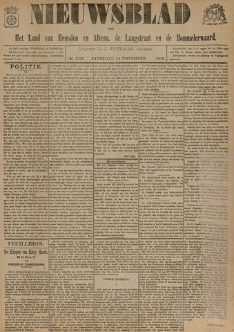 Nieuwsblad het land van Heusden en Altena de Langstraat en de Bommelerwaard 1896-11-14