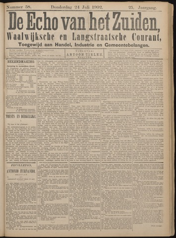 Echo van het Zuiden 1902-07-24