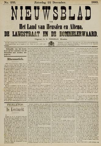 Nieuwsblad het land van Heusden en Altena de Langstraat en de Bommelerwaard 1883-12-22