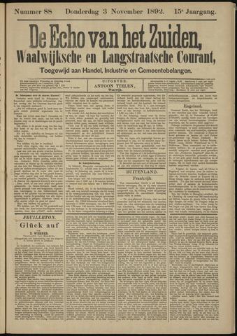 Echo van het Zuiden 1892-11-03