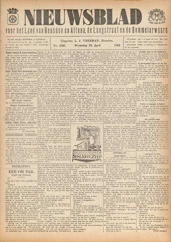 Nieuwsblad het land van Heusden en Altena de Langstraat en de Bommelerwaard 1922-04-12