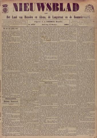 Nieuwsblad het land van Heusden en Altena de Langstraat en de Bommelerwaard 1908-10-03