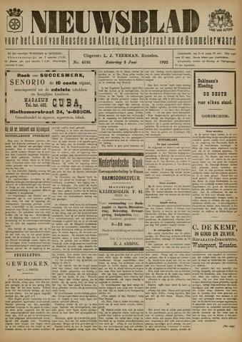 Nieuwsblad het land van Heusden en Altena de Langstraat en de Bommelerwaard 1922-06-03