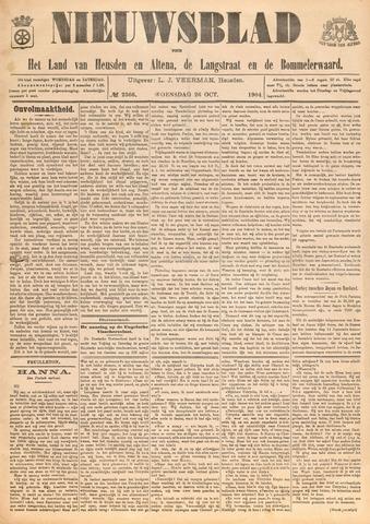 Nieuwsblad het land van Heusden en Altena de Langstraat en de Bommelerwaard 1904-10-26