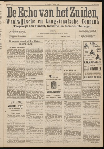 Echo van het Zuiden 1938-04-23
