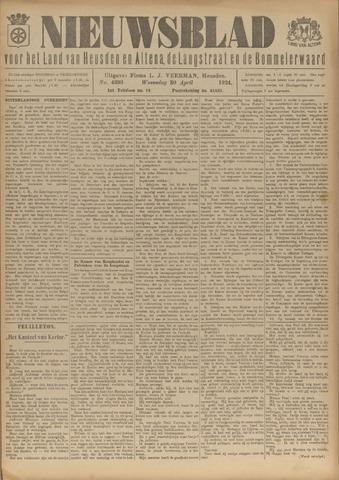 Nieuwsblad het land van Heusden en Altena de Langstraat en de Bommelerwaard 1924-04-30