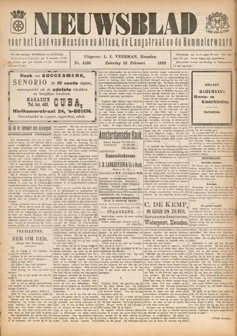 Nieuwsblad het land van Heusden en Altena de Langstraat en de Bommelerwaard 1922-02-18