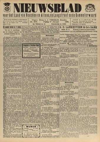 Nieuwsblad het land van Heusden en Altena de Langstraat en de Bommelerwaard 1928-02-17