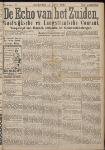 Echo van het Zuiden 1913-04-17