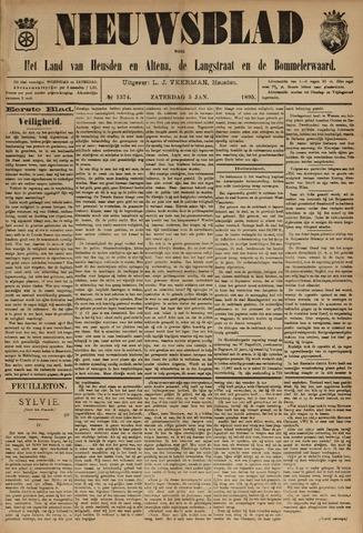 Nieuwsblad het land van Heusden en Altena de Langstraat en de Bommelerwaard 1895-01-05