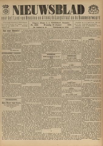 Nieuwsblad het land van Heusden en Altena de Langstraat en de Bommelerwaard 1923-01-10