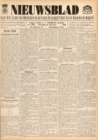 Nieuwsblad het land van Heusden en Altena de Langstraat en de Bommelerwaard 1925-11-25