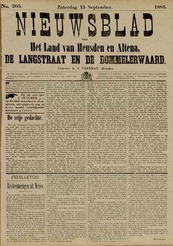 Nieuwsblad het land van Heusden en Altena de Langstraat en de Bommelerwaard 1883-09-15