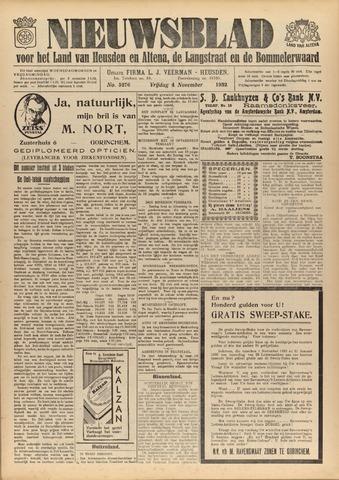 Nieuwsblad het land van Heusden en Altena de Langstraat en de Bommelerwaard 1932-11-04