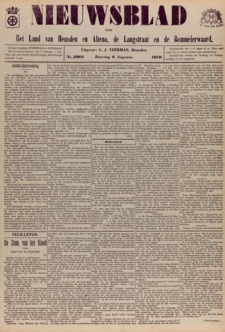 Nieuwsblad het land van Heusden en Altena de Langstraat en de Bommelerwaard 1910-08-06