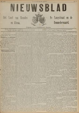 Nieuwsblad het land van Heusden en Altena de Langstraat en de Bommelerwaard 1890-04-30