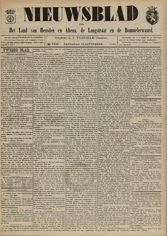 Nieuwsblad het land van Heusden en Altena de Langstraat en de Bommelerwaard 1892-09-17
