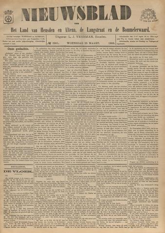 Nieuwsblad het land van Heusden en Altena de Langstraat en de Bommelerwaard 1903-03-25