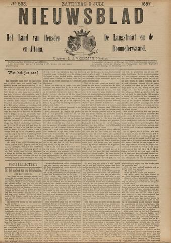 Nieuwsblad het land van Heusden en Altena de Langstraat en de Bommelerwaard 1887-07-09