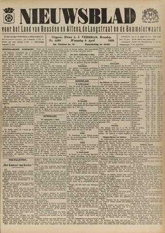 Nieuwsblad het land van Heusden en Altena de Langstraat en de Bommelerwaard 1925-04-08