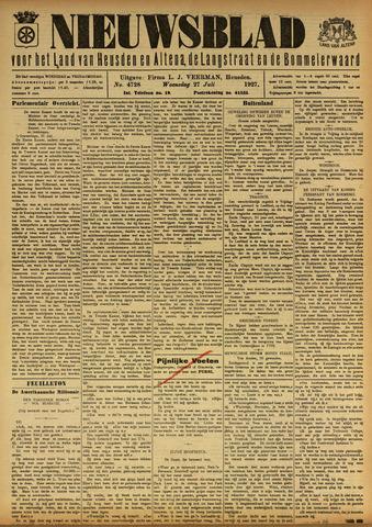 Nieuwsblad het land van Heusden en Altena de Langstraat en de Bommelerwaard 1927-07-27