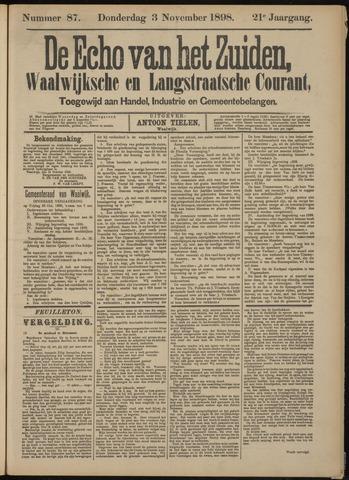 Echo van het Zuiden 1898-11-03