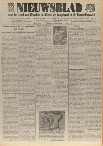 Nieuwsblad het land van Heusden en Altena de Langstraat en de Bommelerwaard 1943-09-10