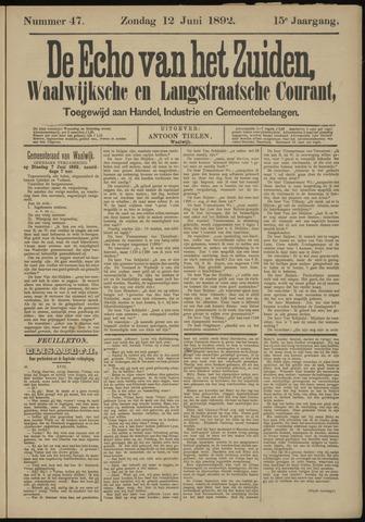 Echo van het Zuiden 1892-06-12