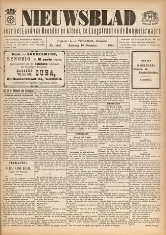 Nieuwsblad het land van Heusden en Altena de Langstraat en de Bommelerwaard 1921-12-10