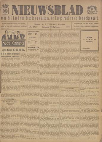 Nieuwsblad het land van Heusden en Altena de Langstraat en de Bommelerwaard 1917-09-29