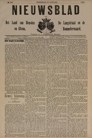 Nieuwsblad het land van Heusden en Altena de Langstraat en de Bommelerwaard 1888-01-11