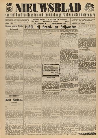 Nieuwsblad het land van Heusden en Altena de Langstraat en de Bommelerwaard 1928-10-24
