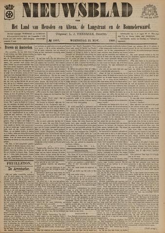 Nieuwsblad het land van Heusden en Altena de Langstraat en de Bommelerwaard 1900-11-21