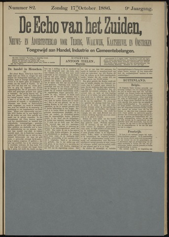 Echo van het Zuiden 1886-10-17