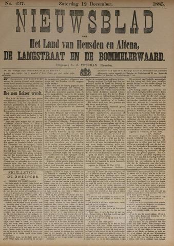 Nieuwsblad het land van Heusden en Altena de Langstraat en de Bommelerwaard 1885-12-12