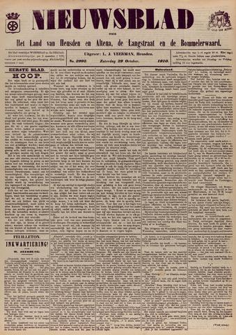 Nieuwsblad het land van Heusden en Altena de Langstraat en de Bommelerwaard 1910-10-29