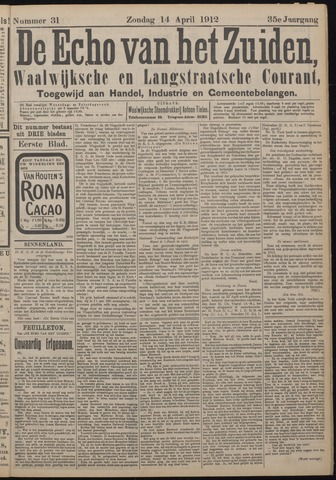 Echo van het Zuiden 1912-04-14