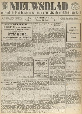 Nieuwsblad het land van Heusden en Altena de Langstraat en de Bommelerwaard 1920-06-12