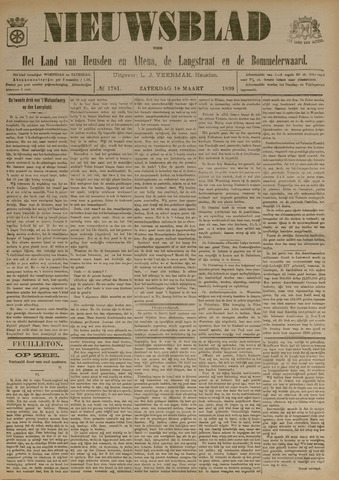 Nieuwsblad het land van Heusden en Altena de Langstraat en de Bommelerwaard 1899-03-18