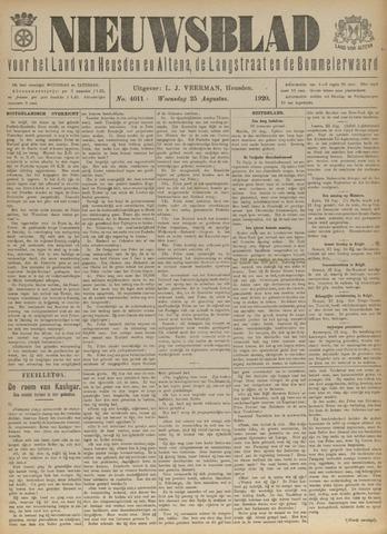 Nieuwsblad het land van Heusden en Altena de Langstraat en de Bommelerwaard 1920-08-25