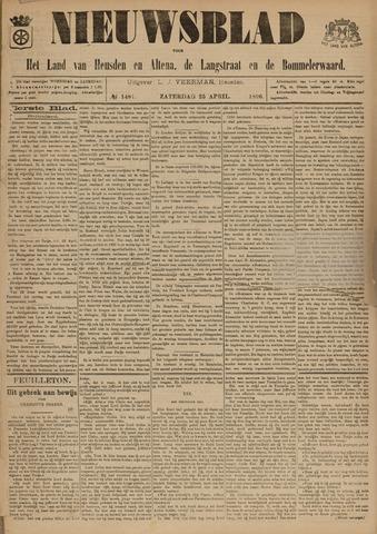 Nieuwsblad het land van Heusden en Altena de Langstraat en de Bommelerwaard 1896-04-25