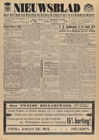 Nieuwsblad het land van Heusden en Altena de Langstraat en de Bommelerwaard 1930-10-31