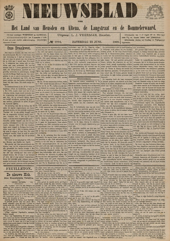 Nieuwsblad het land van Heusden en Altena de Langstraat en de Bommelerwaard 1900-06-23