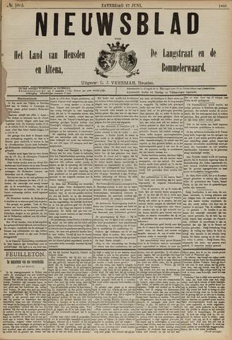 Nieuwsblad het land van Heusden en Altena de Langstraat en de Bommelerwaard 1891-06-27