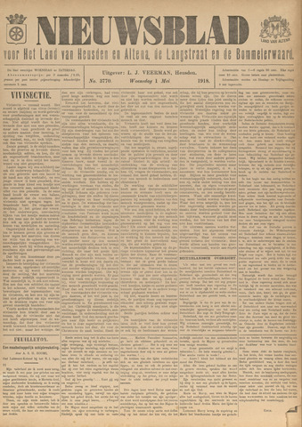 Nieuwsblad het land van Heusden en Altena de Langstraat en de Bommelerwaard 1918-05-01