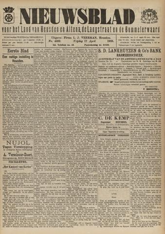 Nieuwsblad het land van Heusden en Altena de Langstraat en de Bommelerwaard 1925-04-17